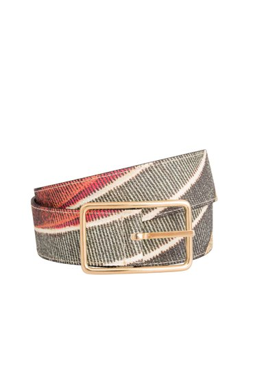 squared buckle reversible woman belt, GPLC005 | 100